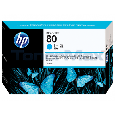HP DESIGNJET 1050C NO 80 INK CYAN 350ML